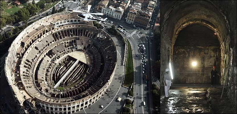 KJELLERTUR: Arbeidet med å gjøre kjellergangene i Colosseum sikre for turister, har tatt flere måneder. Foto: AFP / REUTERS
