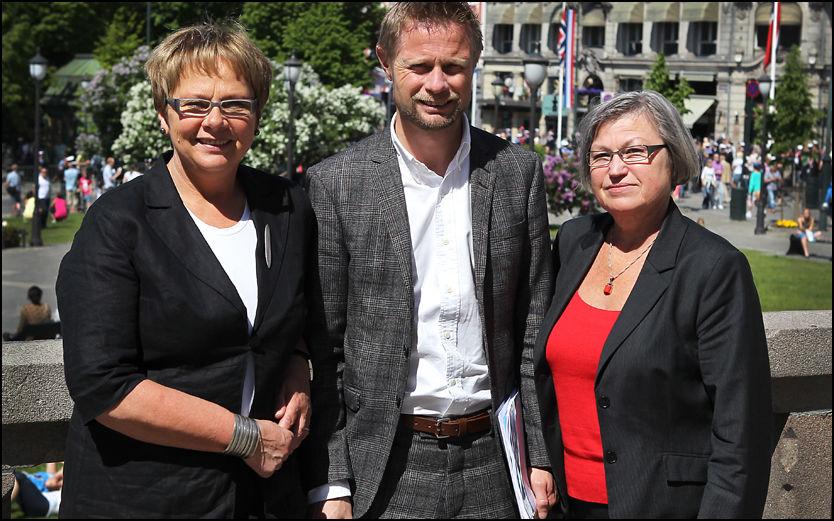KREVER ENDRING: Bent Høie (H), Sonja Sjøli (H) og Laila Dåvøy (KrF) ønsker en havarikommisjon for helsevesenet, etter modell som brukes i transportsektoren. Foto: Nils Bjaaland, VG