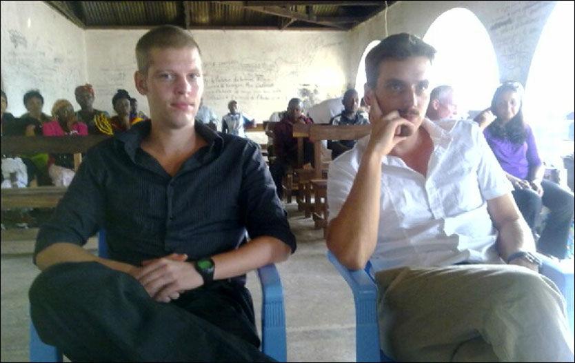 FIKK DOMMEN: Joshua French og Tjostolv Moland på plass i retten hvor dommen mot dem ble lest opp. Foto: Stian Eisenträger