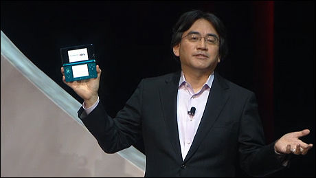 NINTENDO 3DS: Nintendos president, Satoru Iwata, presenterte Nintendo 3DS under kveldens pressekonferanse. Foto: NINTENDO