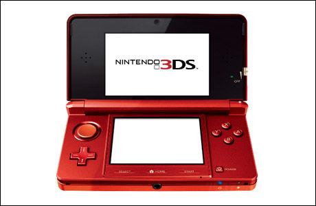 PÅ NÆRT HOLD: Slik ser Nintendo 3DS ut på nært hold. Foto: NINTENDO