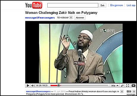 FÅR IKKE INNREISE: Zakir Naik får ikke innreise til Storbritannia. Foto: Skjermdump Peace TV/YouTube