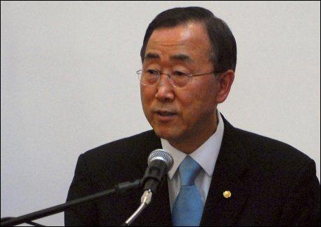 KUTTER: FNs generalsekretær Ban Ki-moon trekker ut flere av sine utenlandske ansatte fra Afghanistan. Foto: Reuters