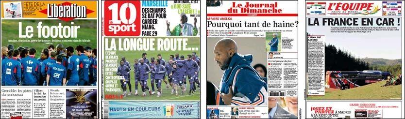 SLAKTES: Det franske landslaget får gjennomgå i franske aviser. Foto: