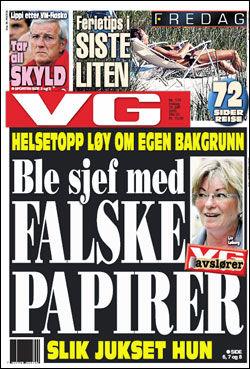 Foto: Faksimile: VG (25.06.2010)