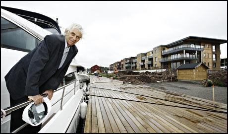 STORPROSJEKT: Utbygger Steinar W. Solum måtte kjempe en lang kamp for å få bygge så mye som 400 leiligheter på Jarlsø. Foto: Aftenposten