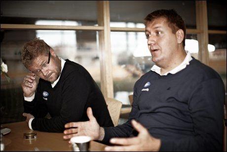 I BISLETT-SAMTALER: Pål Breen (t.h.) var mandag på befaring på Bislett. Til venstre sportssjef Truls Haakonsen. Foto: Tore Kristiansen