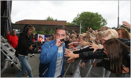 NY STJERNE: Sirius var en populær mann blant publikum Foto: Ida Anna Haugen