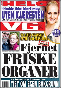 VG AVSLØRER: To leger granskes etter at pasienter fikk fjernet friske organer. Foto: Faksimile: VG (06.06.2010)