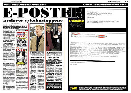 AVSLØRING: VG avslørte i går at sykehustoppene hadde kunnskap om situasjonen på Nordlandssykehuset.