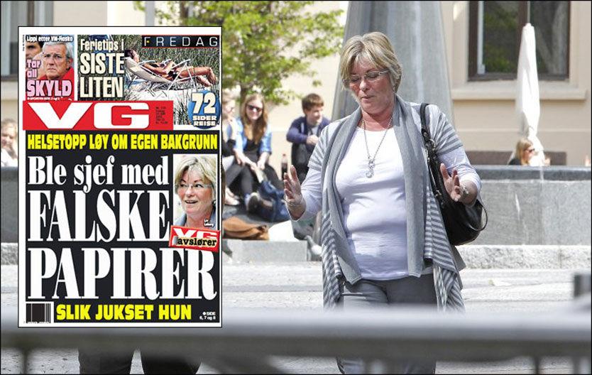 INNRØMMER CV-JUKS: Liv Løberg innrømmer at hun forfalsket CV-en og eksamensdokumenter som hun viste frem da hun fikk jobb som sjef ved Statens autorisasjonskontor for helsepersonell. Foto: Jan Petter Lynau