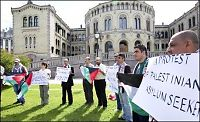 Palestinere demonstrerte mot utkastelse