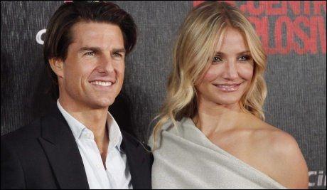 MOTSPILLERE: Tom Cruise (48) og Cameron Diaz (37) på Hollywood-premieren til «Knight and Day». Foto: AP