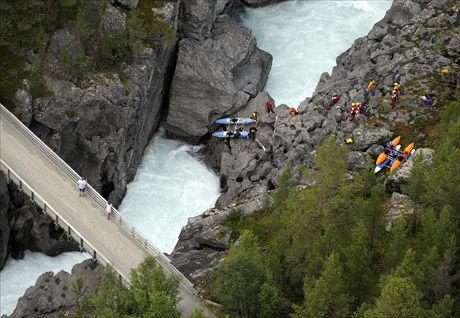 RISIKABELT: Ingen norske kommersielle selskap tilbyr turer i området ovenfor Ridderspranget på grunn av vanskelige forhold. Foto: VG
