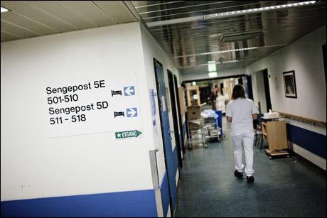 PROBLEMER: Stavanger Universitetssykehus skal gjennomgå flere tusen konsultasjoner på jakt etter feilføringer. Sengepostene på bildet har ikke nødvendigvis noe med saken å gjøre. Illustrasjonsfoto: Trond Sørås