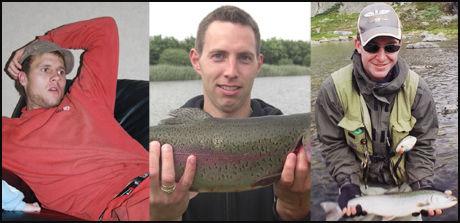 SAVNET: F.v Magnar Haarr (24) og Jonas Reiestad (31) er fortsatt savnet, mens Tormod Aniksdal (24) (t.h) er bekreftet omkommet på Grønland. Foto: Privat Foto: