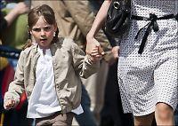 Første skoledag for prinsessen torsdag