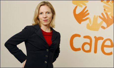 HJELPEARBEIDER: Generalsekretær i CARE Marte Gerhardsen etterlyser tiltak. Foto: Scanpix