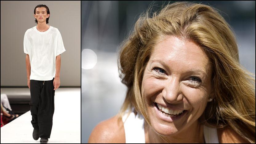 - FOR TYNNE: Høyres Julie Brodtkorb Voldberg fikk lyst til å gi de mannlige modellene under Oslo Fashion Week et skikkelig bondemåltid. Foto: VG/Scanpix