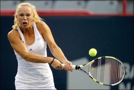 TIL TOPPS: Caroline Wozniacki stakk av med seieren i Montreal. Foto: AFP