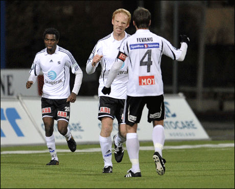 JUBLET: Peter Kovacs reddet poeng for Odd Grenland søndag. Foto: Scanpix