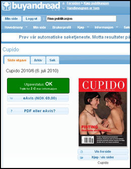ELEKTRONISK UTGAVE: BuyAndRead er en nettbasert bladkiosk som selger elektroniske utgaver av norske papiraviser og magasiner. Faksimile: BuyAndRead