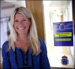MELLBERG: Siste sjef på tanumhsede politistasjon var Petra Widen. Foto: Terje Bringedal