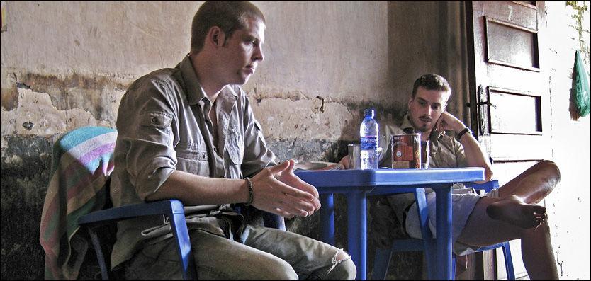 VIL TIL NORGE: Joshua French og Tjostolv Moland håper å bli utlevert til Norge. Men først må de forhandle med enken etter drapsofferet, som krever 18 millioner kroner. Foto: Helge Mikalsen