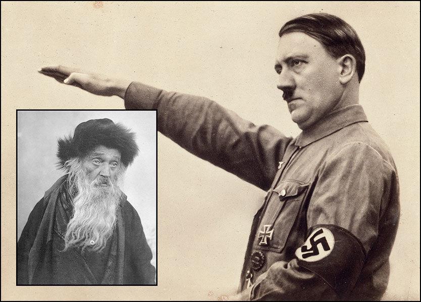 JØDISK BLOD: Kan en jøde som denne karen - avbildet i Jerusalem omkring 1905 - være del av det arvematerialet som til slutt utgjorde Hitler? Det er de som hevder det. Foto: AKG images/Scanpix