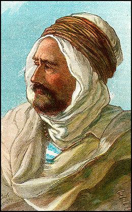 BERBER: En berber fra Kabylia i det nørdøstre Algeria. Tegning: Scanpix