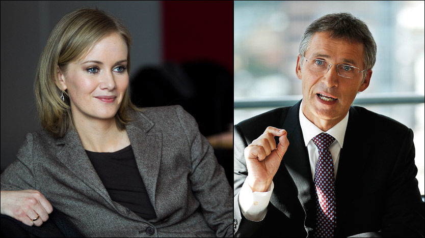 UENIGE: KrF-nestleder Inger Lise Hansen vil snakke med Frp. Statsminister Jens Stoltenberg advarer. Foto: Frode Hansen/Roger Neumann