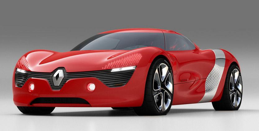 RØD-«GRØNN»: Renault DeZir er et blikkfang i all sin røde prakt. Foto: Renault