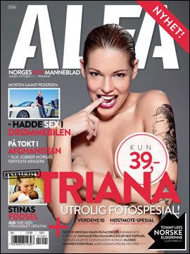 NYTT BLAD: Soldatene i Telemark bataljon er intervjuet i den første utgaven av magasinet Alfa. FAKSIMILE: Alfa