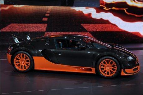 RASKEST: Bugatti Veyron. Verdens raskeste bil. Foto: AFP