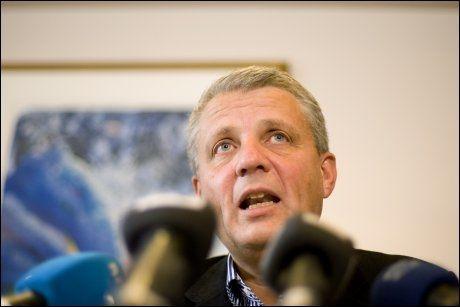 Kristelig Folkeparti en oppslutning på 3,75 prosent i en ny meningsmåling. Det er ikke solide tall fpr KrF-leder Dagfinn Høybråten. Foto: Scanpix