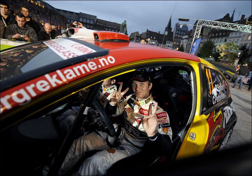 TREDJEPLASS?: Petter Solberg jobber intenst for å klare å havne på pallen i Rally Frankrike. Foto: AFP