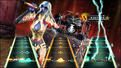 MIDDELS: «Guitar Hero: Warriors of Rock» er godkjent, men byr på for lite nytt til at det blir ordentlig interessant igjen. Foto: NEVERSOFT/ACTIVISION
