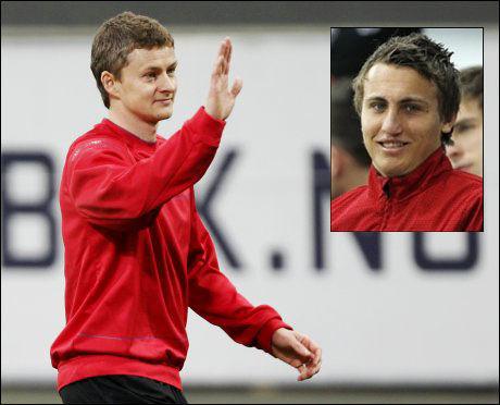 SKRYTER: Magnus Wolff Eikrem (20) tror Ole Gunnar Solskjær (37) kunne gjort det skarpt som Molde-trener. Foto: Scanpix
