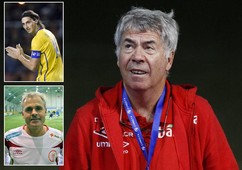 DRILLO OG ZLATAN: Anders Limpar (nede til venstre) sammenligner Drillo og Zlatan i måten å forholde seg til kritikk fra omverdenen.