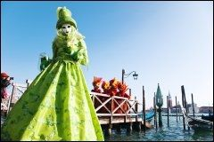 KARNEVAL: På nyåret er det legendariske karnevalet i Venezia det store trekkplasteret. Foto: KARIN BEATE NØSTERUD.