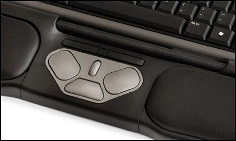 Det er stangen som tar over jobben til datamusa. I tillegg har du et lite knippe hurtigtaster. Foto: Contour Design.
