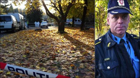 ÅSTEDET: En kvinne ble funnet død ved Tokerud Skole søndag, bekrefter innsatsleder Rune Instebø. Foto: Roar Dalmo Moltubak