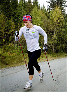 Langrennsløper Marit Bjørgen Foto: Line Møller