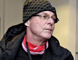 DEDISERTE SCORING: Sønnen Jesper Mathisen ble matchvinner mot Stabæk og dediserte målet til sin kreftsyke far Svein Mathisen. Foto: SCANPIX