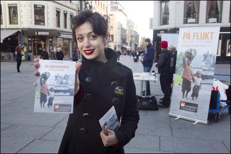 IRRITERT: Hadia Tajik (Ap) reagerer på at Mette Hanekamhaug rekrutterer bøssebærere til TV-aksjonen samtidig som Frp vil kutte i bistanden. Foto: Scanpix