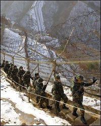 Nord-Korea og Sør-Korea skjøt mot hverandre