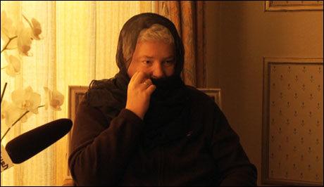 TILDEKKET: Brita Møystad gikk med på å bruke slør under intervjuet med det hun trodde var en arabisk TV-kanal. Foto: Funkenhauser