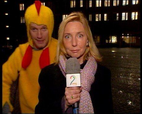 KYLLINGSTUNTET: Bård Tufte Johansens avbrytelse av TV 2 Nyhetene etter Torbjørn Jaglands illebefinnende skapte stor oppstandelse. Foto: TV 2