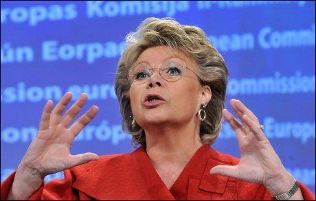 JUSTISKOMMISÆR I EU: Viviane Reding. Foto: AFP