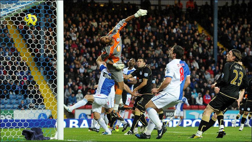 KANONMÅL: Ali Al Habsi i Wigan-målet var sjanseløs på skuddet fra Morten Gamst Pedersen. Foto: PA